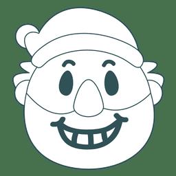 sonrisa con dientes Santa Claus emoticono accidente cerebrovascular verde 33