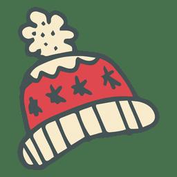 icono de dibujos animados dibujados mano de trineo de invierno 16