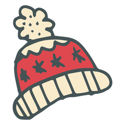 Winter toboggan hand drawn cartoon icon 16