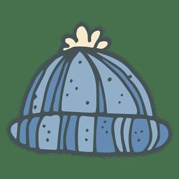 Ícone de desenho animado de tobogã inverno mão desenhada 27