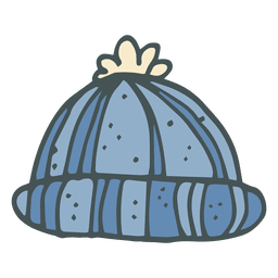 Icono de dibujos animados de invierno trineo dibujado a mano 27