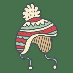 Winter toboggan hand drawn cartoon icon 44