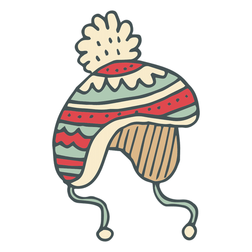 Winter toboggan hand drawn cartoon icon 44 Transparent PNG