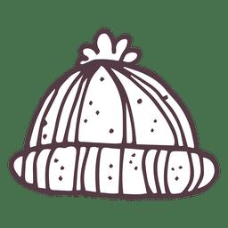 Ícone de mão desenhada de tobogã de inverno 11