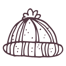 Icono de dibujado a mano de tobogán de invierno 11