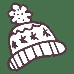 Ícone de mão desenhada tobogã inverno 18