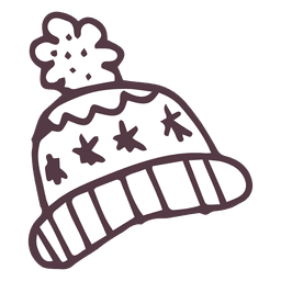 Winter toboggan hand drawn icon 18