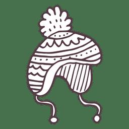 Icono de dibujado a mano de tobogán de invierno 54