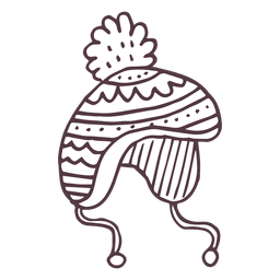 Winter toboggan hand drawn icon 54