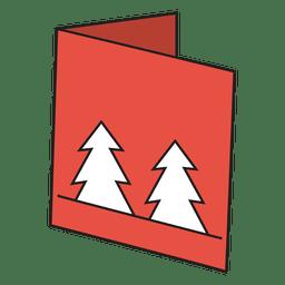 Tarjeta de felicitación de invierno icono de dibujos animados 23