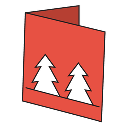 Winter greeting card cartoon icon 23