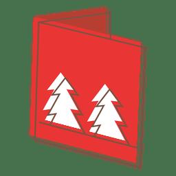 Tarjeta de felicitación de invierno icono de dibujos animados 63