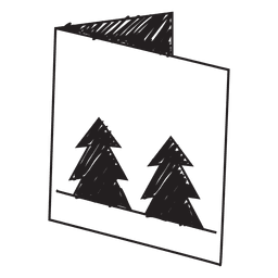 Winter greeting card hand drawn icon 60