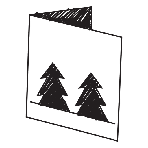 Winter greeting card hand drawn icon 60