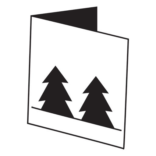 Winter greeting card icon 28