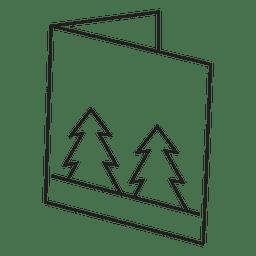 Tarjeta de felicitación de invierno icono de trazo 3