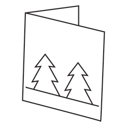 Winter greeting card stroke icon 3