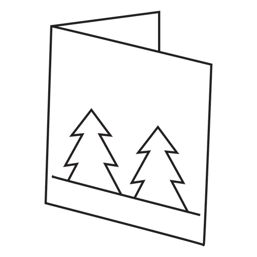 Winter greeting card stroke icon 3 Transparent PNG