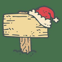 Letrero de madera dibujado a mano icono de dibujos animados 38