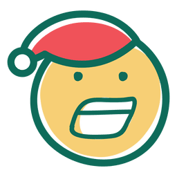 Yelling santa claus hat face emoticon 30