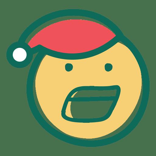 Yelling santa claus hat face emoticon 30 Transparent PNG