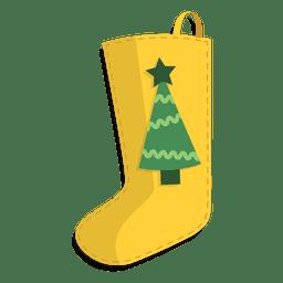 Ícone de árvore de Natal de lotação de Natal amarelo 30