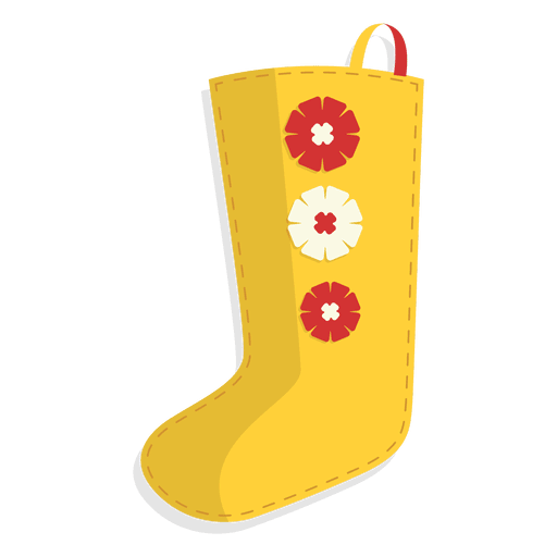 Yellow flowers christmas stocking icon 25 Transparent PNG