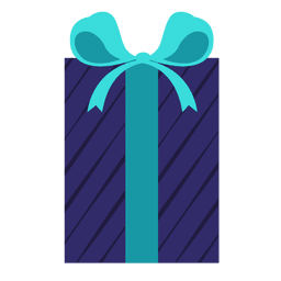 Caixa de presente listra azul luz azul arco ícone 5