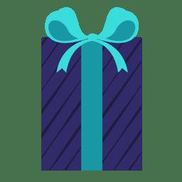 Hellblaue Bogenikone 5 der blauen Streifengeschenkbox