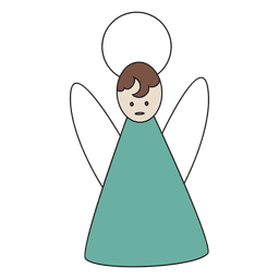 Ícone dos desenhos animados anjo azul 29