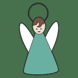 Icono de dibujos animados de angel azul 29