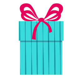 Blue gift box pink bow icon 10