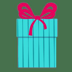 Caja de regalo azul rosa icono de arco 10