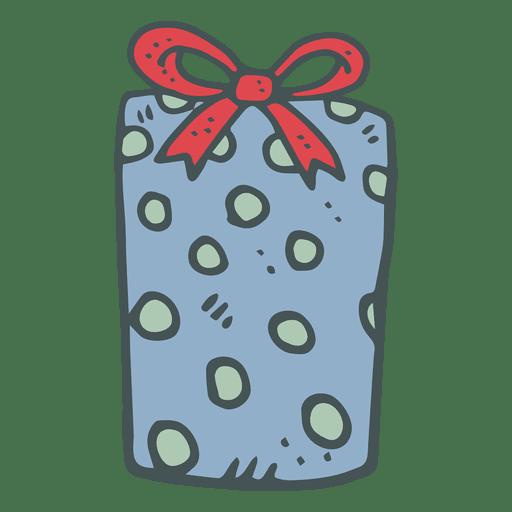 Lunar azul caja de regalo arco rojo dibujado a mano icono 29 Transparent PNG