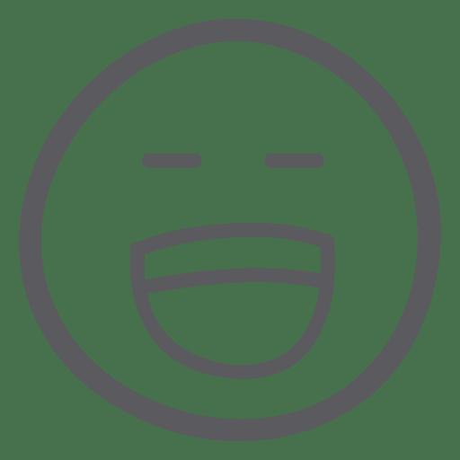 Emoticon emoji riendo alegre