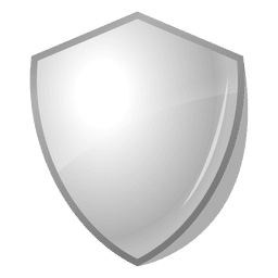 3d glossy shield emblem label