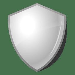 Rótulo de emblema de escudo brilhante 3D