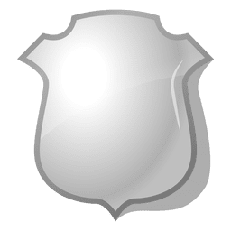 3d polished shield emblem