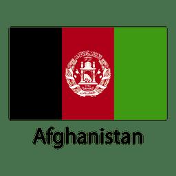Bandera nacional afgana