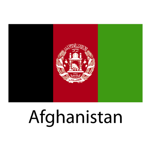 Bandera nacional de afganistán