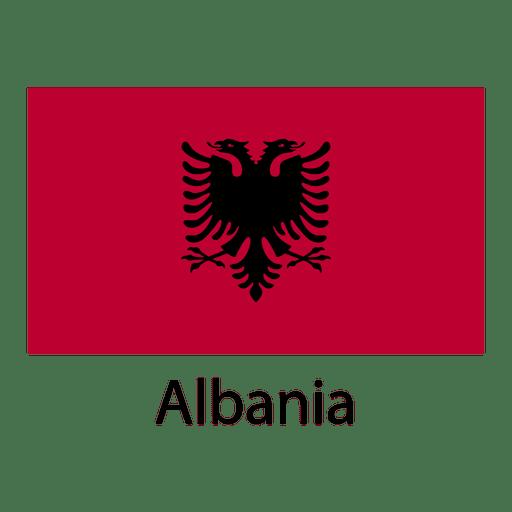 Bandera nacional de albania