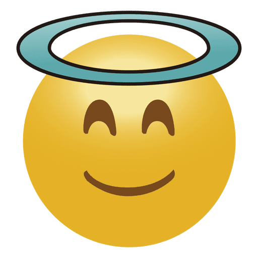 Emoticon de anjo emoji Transparent PNG