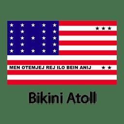 Atolón de Bikini bandera nacional.