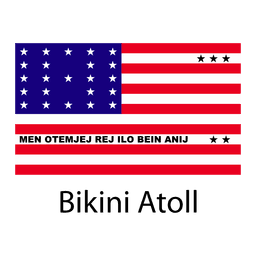 Bikini atoll national flag