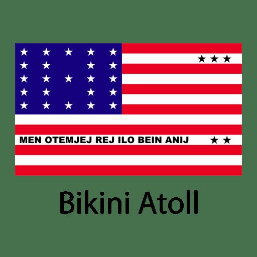 Bikini atoll national flag