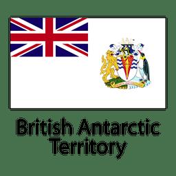 Britische Flagge der Antarktis