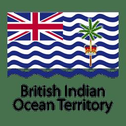 Britische Flagge des Indischen Ozean