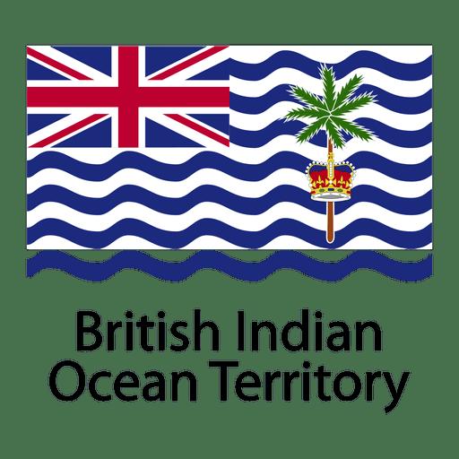 Bandera nacional del territorio británico del océano índico Transparent PNG