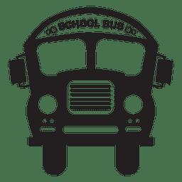 Silhueta de ônibus escolar de ônibus