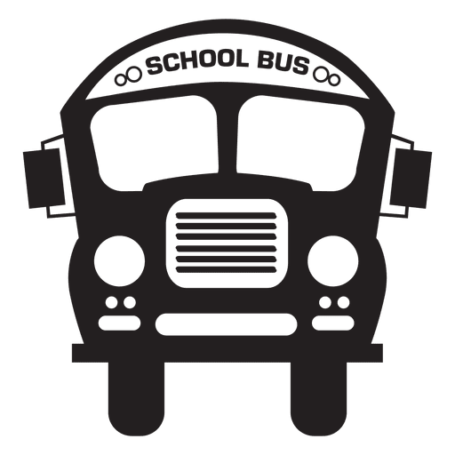 Bus school bus silhouette Transparent PNG